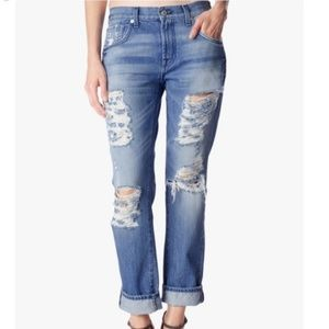 7 for all mankind Distressed Boyfriend Jeans